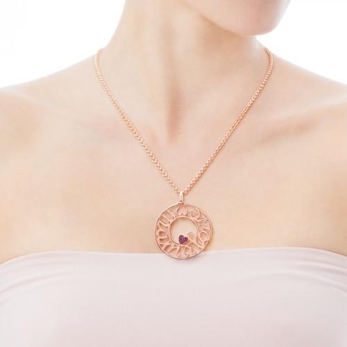 TOUS Pink Vermeil Silver Mama Pendant