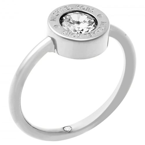 Michael Kors Logo Brilliance Silver-Tone Crystal Set