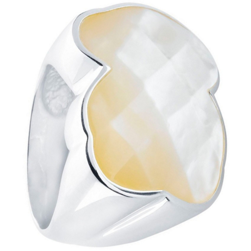 Tous Large Mother of Pearl Bear Ring