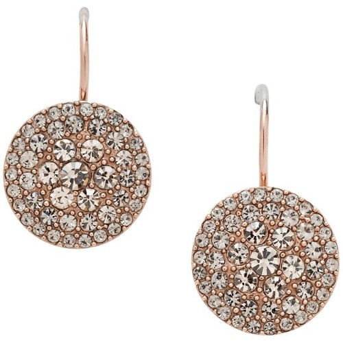 Fossil Glitz Disc Earring - Rose Gold