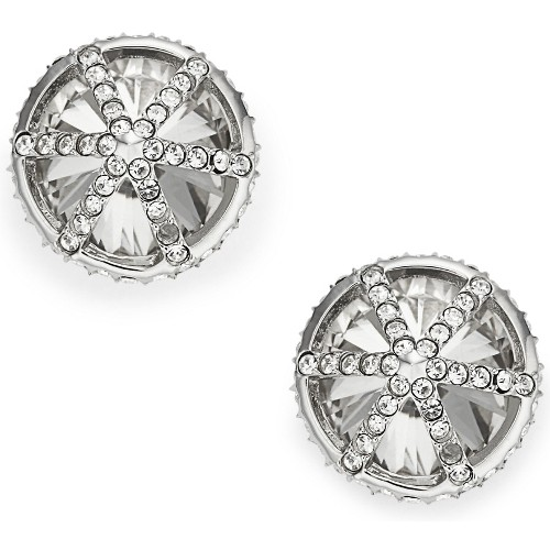 Fossil Cage Studs - Silver