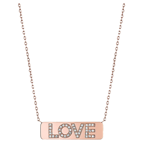 Michael Kors Rose Gold-Tone Pave Love Pendant Necklace