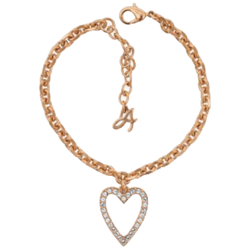 More to Adore Rose Gold Open Heart Necklace