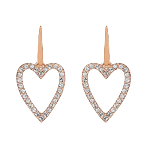 More to Adore Rose Gold Open Heart Earrings