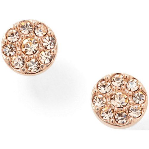 Fossil Disc Studs - Rose Gold