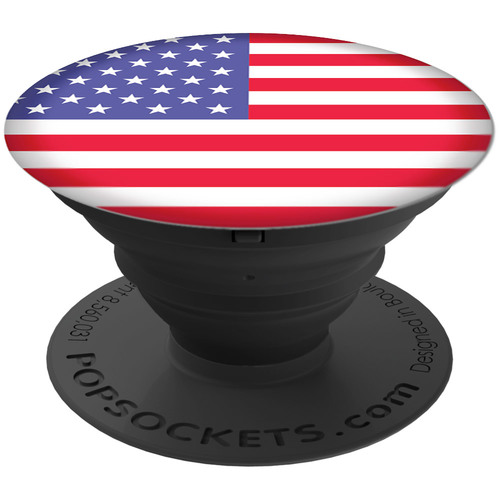PopSockets Universal Smartphones and Tablets Expanding Stand and Grip - American Flag