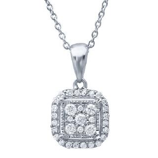 14K WG 0.21CT DIAMOND PENDANT