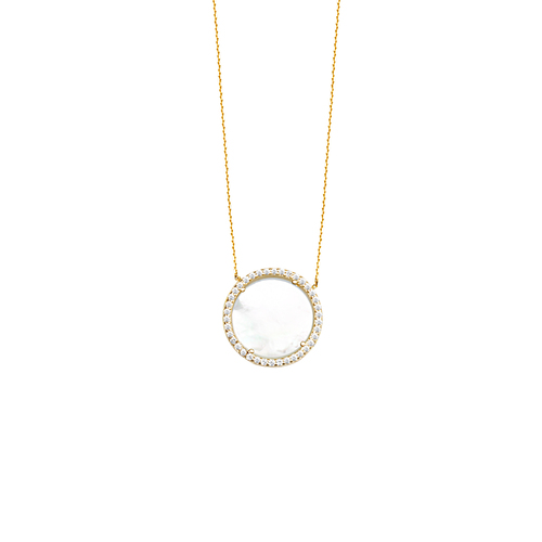 14Ky Mother Of Pearl Necklace