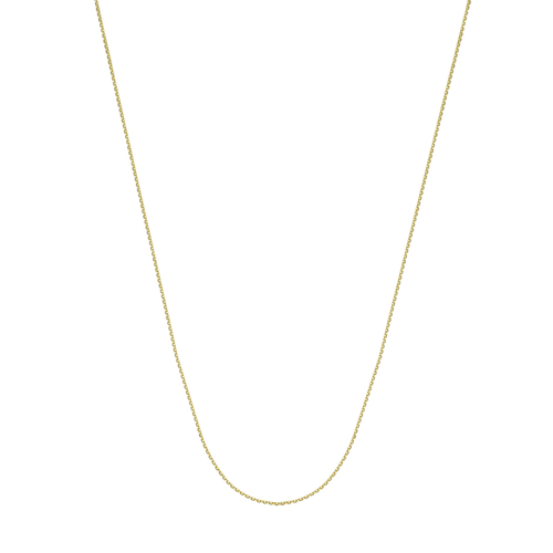 """14K Yg 20"""" 0.8Mm D/C Cable Chain"""