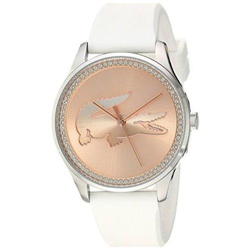 Lacoste Women's Victoria Silicone Strap Watch - White