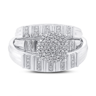 0.31CT 14K W/G DMND TRIO PAVE SET