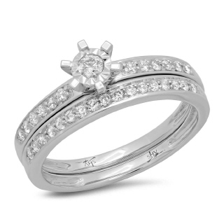 14K W/G 0.35CT DMND WEDDING SD -