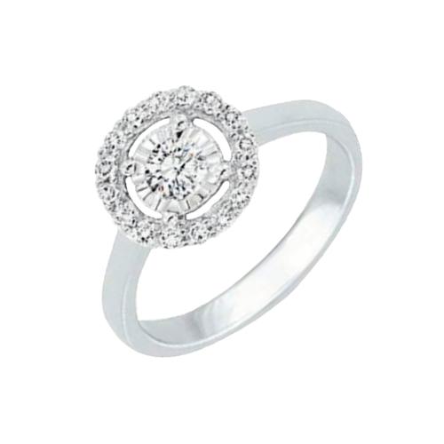 14kw 0.10ct tw Diamond Ring