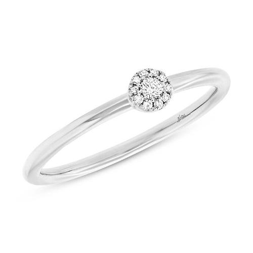 007ct 14k White Gold Diamond Ladys Ring