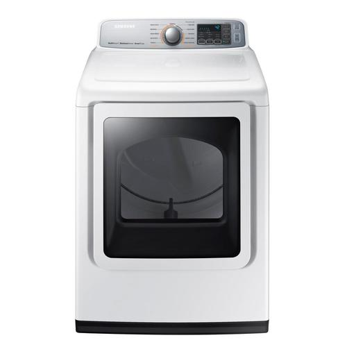 Samsung 7.4 Cu. Ft. 11-Cycle Electric Steam Dryer - White 53I-863-DVE50M7450W