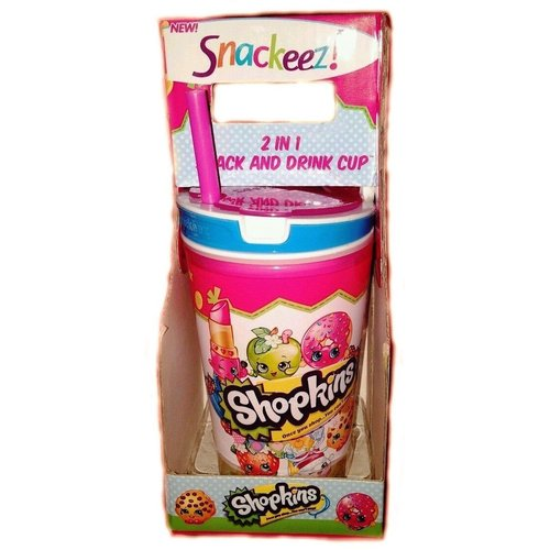 As Seen on TV Snackeez Shopkins 2 In 1 Snack And Drink Cup 77V-N67-SNZSHMC126