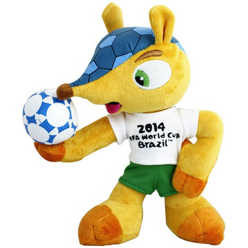 2014 FIFA World Cup Fuleco 9'' Plush Mascot 79A-M78-FULECO22CM