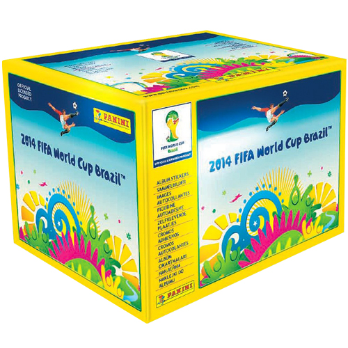 2014 FIFA World Cup Panini 50 Sticker Pack Box 79A-M78-PANINI/BOX
