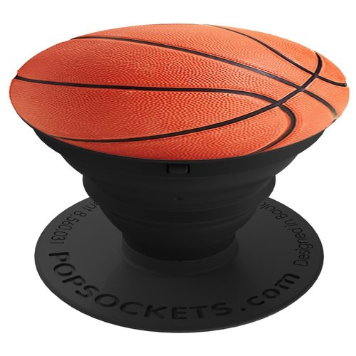 PopSockets Universal Smartphones and Tablets Expanding Stand and Grip - Basketball