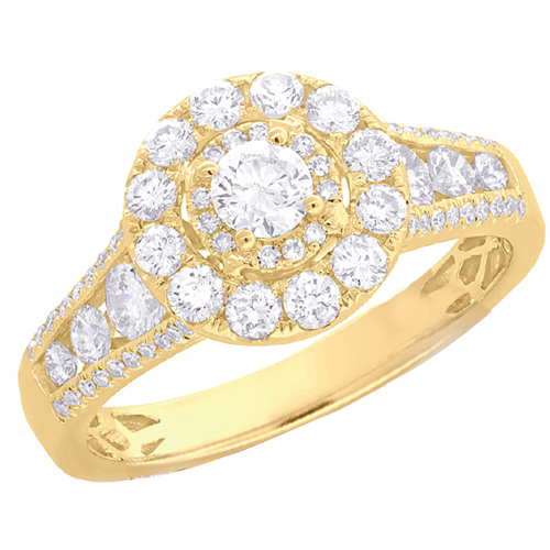 14K Yellow Gold 1.22 ct Diamond Engagement