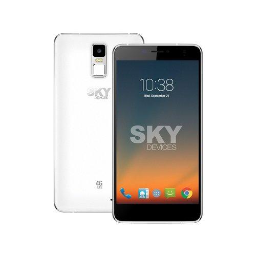 Sky Devices SKYELITE6.SL Unlocked Smartphones 6 / 1GB RAM / 8GB HDD / 1.3 GHz MediaTek MT6735 Cortex-A53 Processor - Silver/White