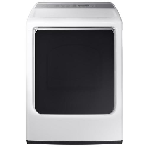 Samsung 7.4 Cu. Ft. 12-Cycle High-Efficiency Gas Steam Dryer - White 53L-863-DVG52M8650W