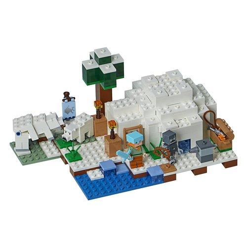 Lego Minecraft the Polar Igloo 278-Piece Building Kit 12L-P67-21142