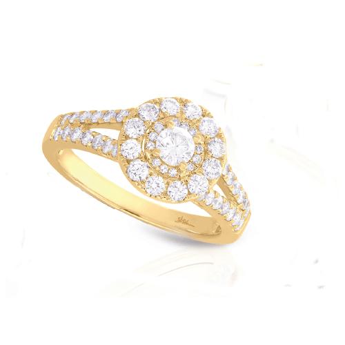 14K Yellow Gold 1.02 ct Diamond Engagement