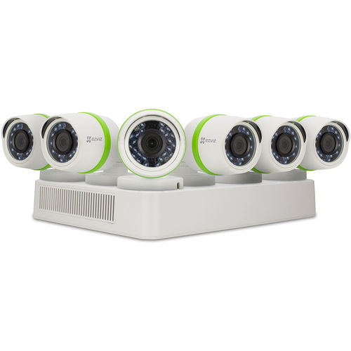 Ezviz BD2826B2 Everyday 8-Channel 1080p DVR with 2TB HDD and 6 1080p Outdoor Bullet Cameras - White