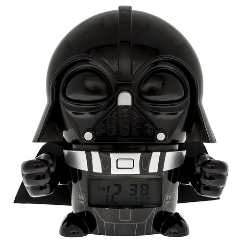 BulbBotz Star Wars Darth Vader Kids Night Light 5.5-inch Alarm Clock - Black/Gray 12N-S72-2021364