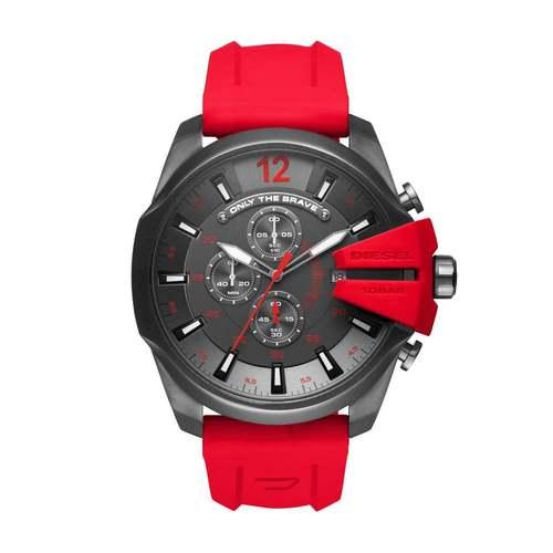 Diesel Men's Mega Chief Silicone Strap Watch - Red 60D-O48-DZ4427