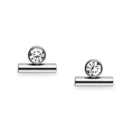 Fossil Vintage Glitz Line And Dot Studs