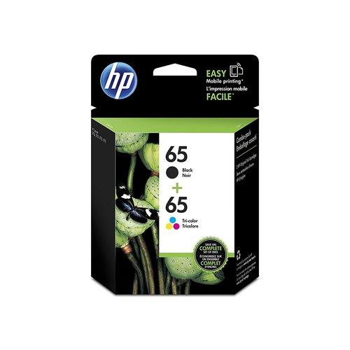 HP 65 Ink 2-Pack Combo Original Ink Cartridges Set - Black/Tricolor