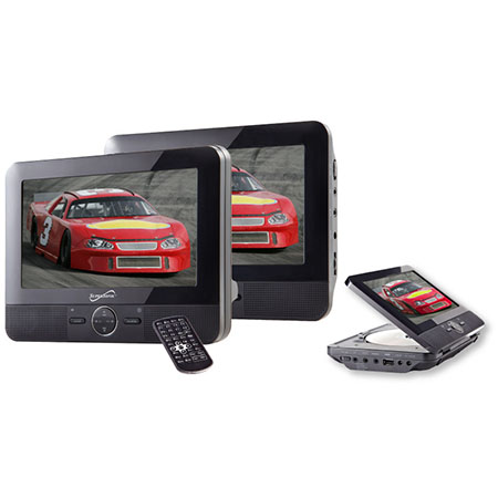 """Supersonic SC-198 7"""""""" Dual Screen Portable DVD Player"""" 007YHT0267"""