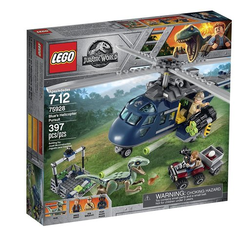 Lego Jurassic World Blue's Helicopter Pursuit 12L-P67-75928