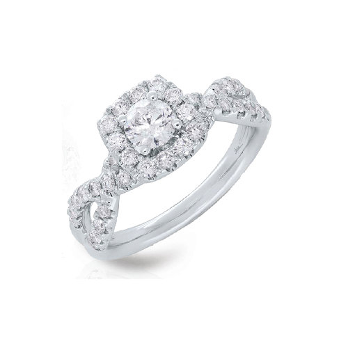 14K White Gold 1.00 ct Diamond Engagement