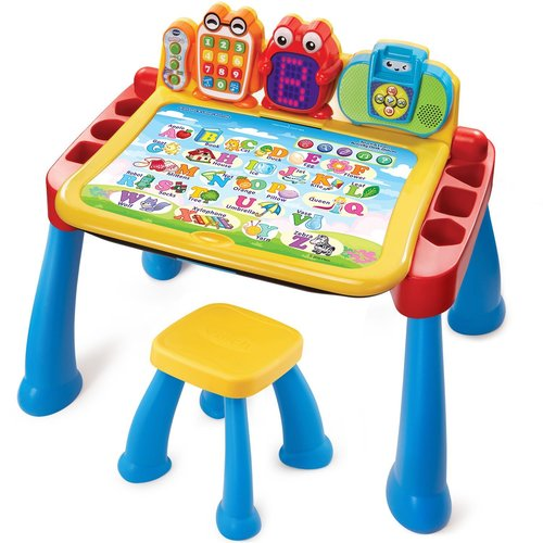 VTech Touch and Learn Activity Desk Deluxe Interactive Learning System - Blue 12E-A29-80194800