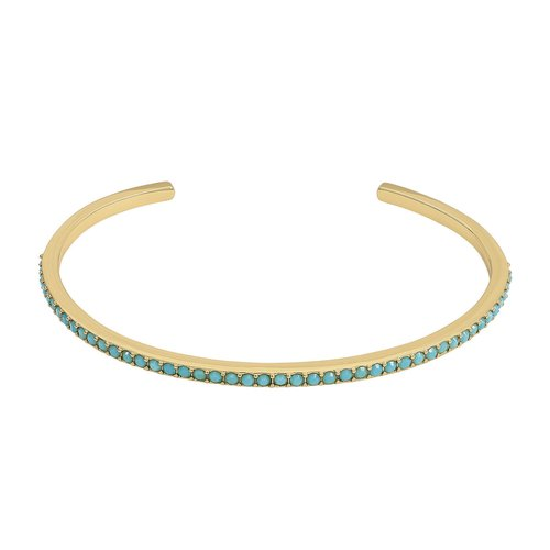 Adore Skinny Pave Bangle - Gold/Turquoise 69B-L23-5303121