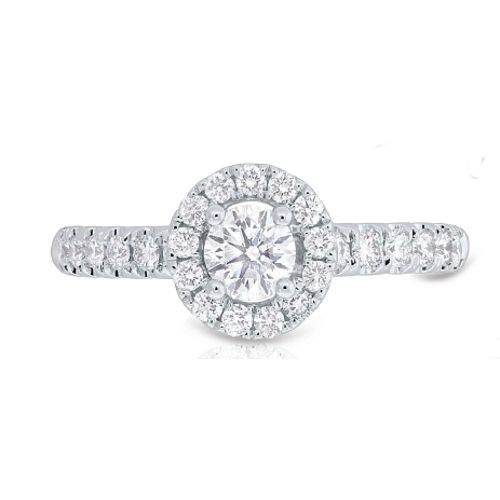 14K White Gold 0.85CT Diamond Engagement Ring