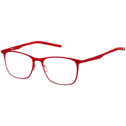 Polaroid PLDD501 Rectangle Wayfarer Eye Glasses - Red 67T-O58-PLDD501/RED