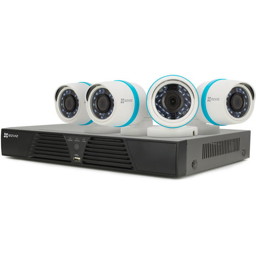 Ezviz BN1424A1 4-Channel 1080p NVR with 1TB HDD and 4 1080p Outdoor Network Bullet Cameras - White