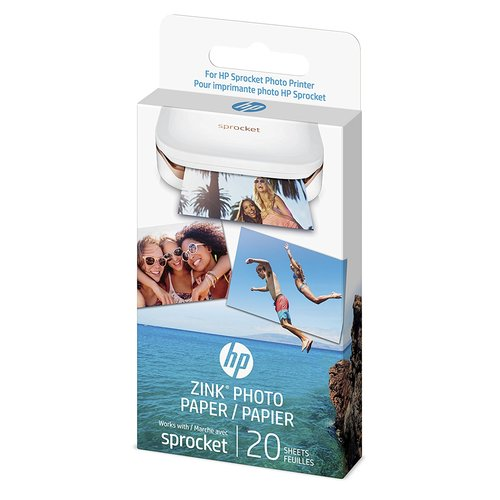 HP Zink Sticker 20-Sheets Photo Paper - White