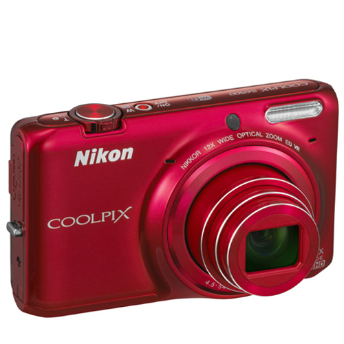 Nikon COOLPXS6500R Digital Camera 16.0MP / 4.5 -54.0mm Lens / 12X Zoom - Red