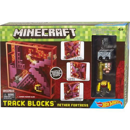 Mattel Minecraft Hot Wheels Track Blocks Playset