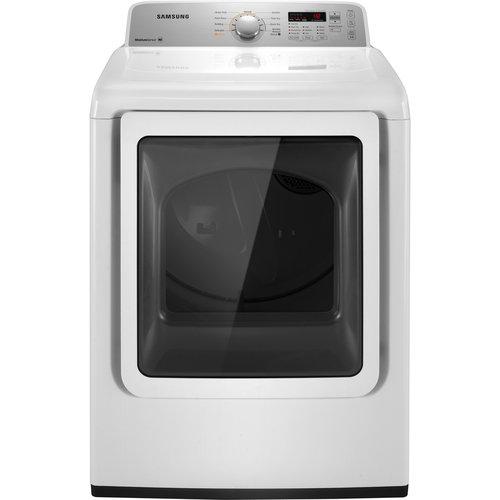 Samsung DV422GWHD 7.2 Cu. Ft. Gas Top Load Dryer with Sensor Dry and Glass Door - White 53L-Q63-DV422GWHDWR