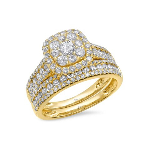 14K Yellow Gold 1.46 ct Diamond Wedding