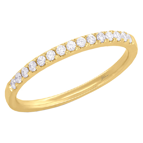 14K Yellow Gold 0.18 ct Diamond Lady's Band