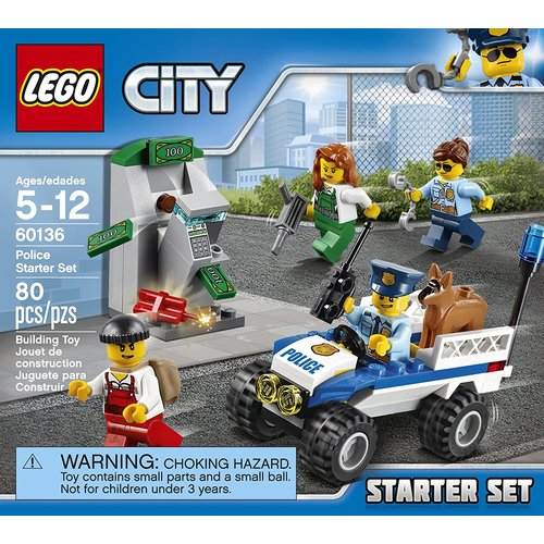 Lego City Police Police Starter Set 80-Piece Building Kit Toy 12L-P67-60136