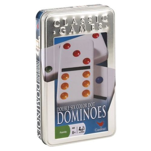 Cardinal Double 6-Color Dominoes In Tin 12G-P94-6029738