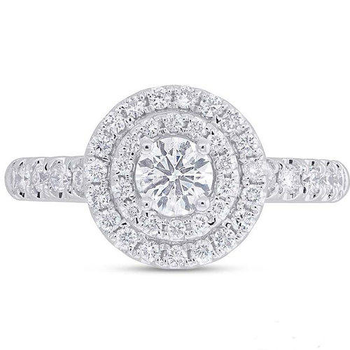 14K White Gold 0.90 ct Diamond Engagement